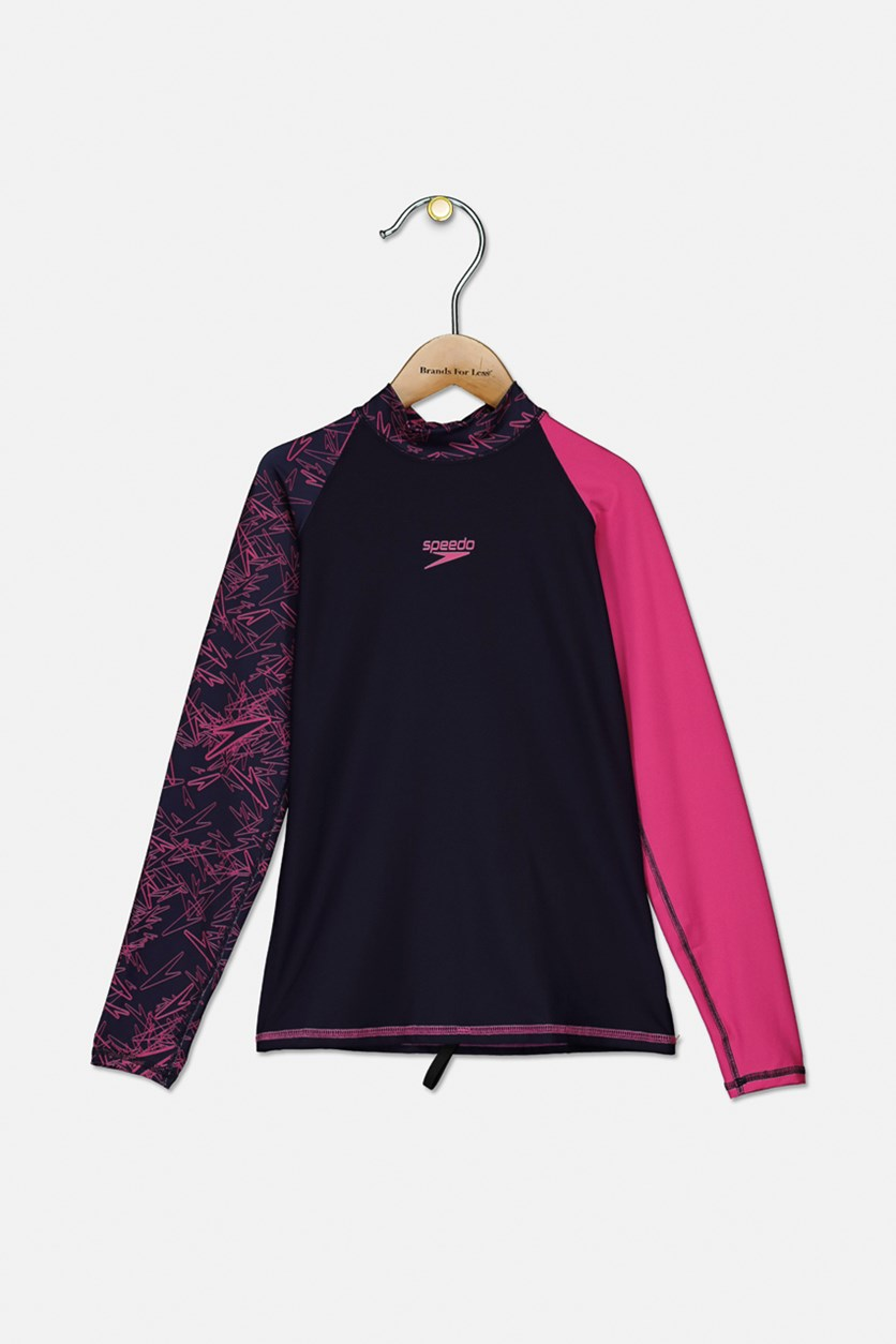 Women's Ultimate Drum Rashguard, Navy/Pink