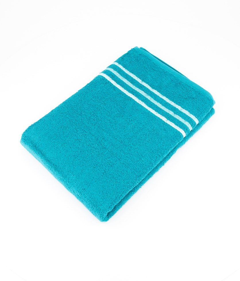 Terry Shower Towel, Teal