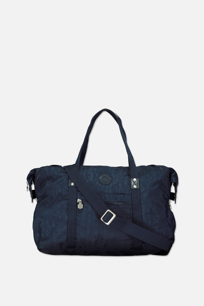 Women's Crinkle Nylon Travel Bag, Navy