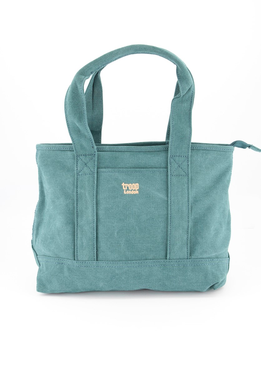 Women's Zipper Closure Totes Bags, Turquoise