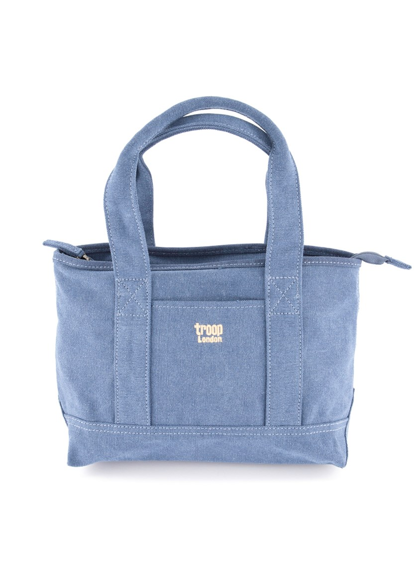 Women's Zipper Closure Shoulder Bag, Blue