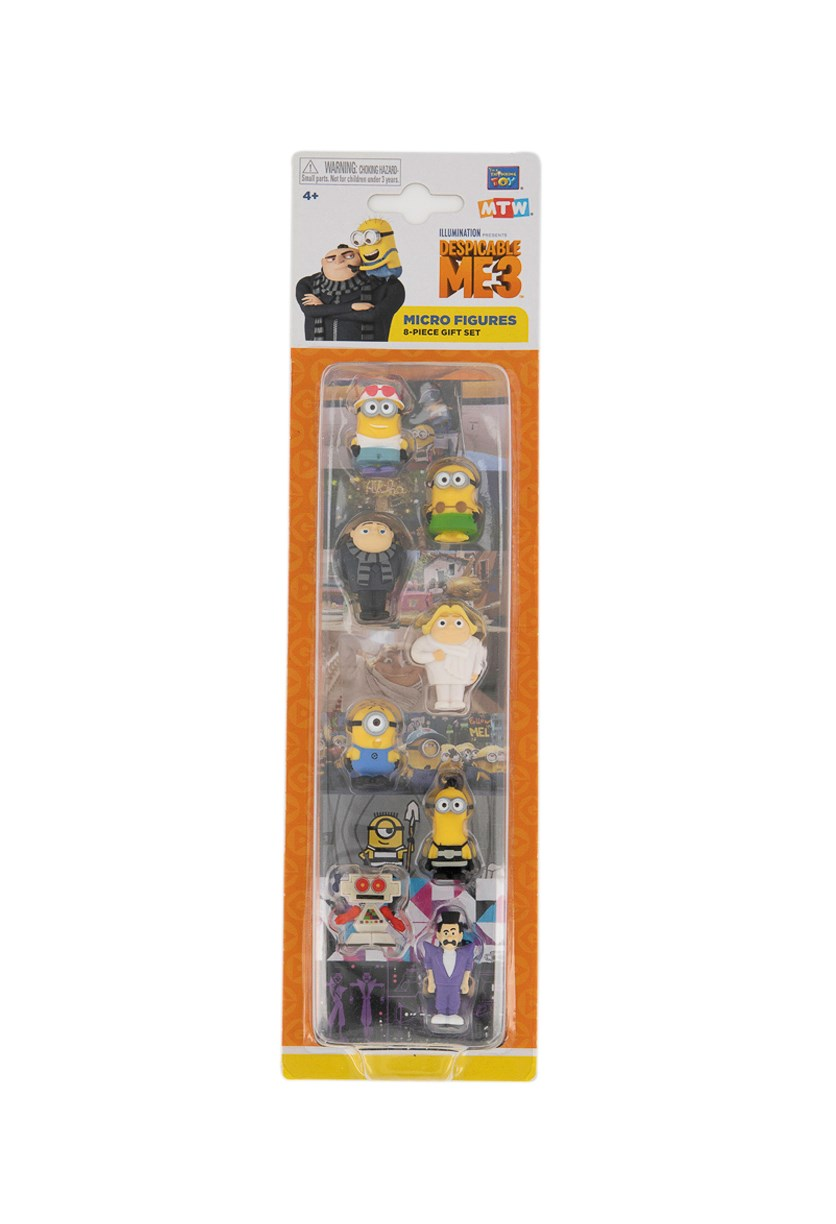 Micro Action Figure Pack Of 8 Gru, Yellow/Black Combo