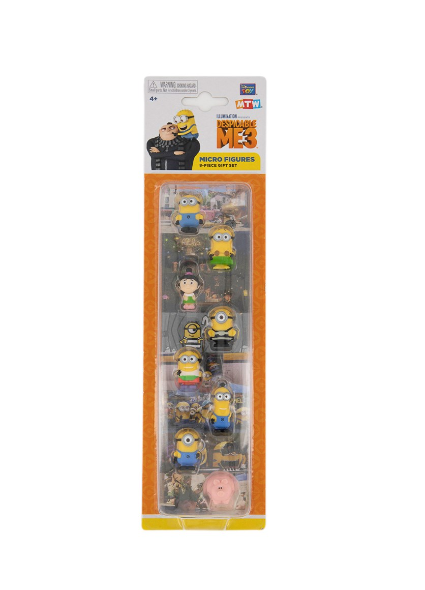 Micro Action Figure Pack Of 8,  Yellow Combo