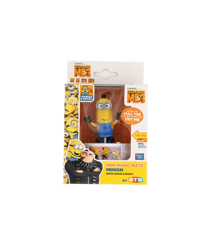 Despicable Me 3 Mini Music Mate Tim, Yellow/Blue