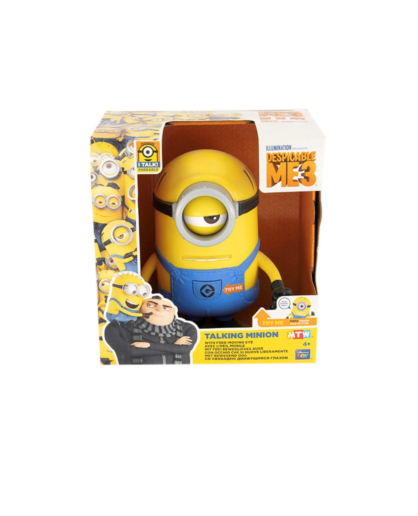 Despicable Me 3 Talking Carl, Yellow/Blue