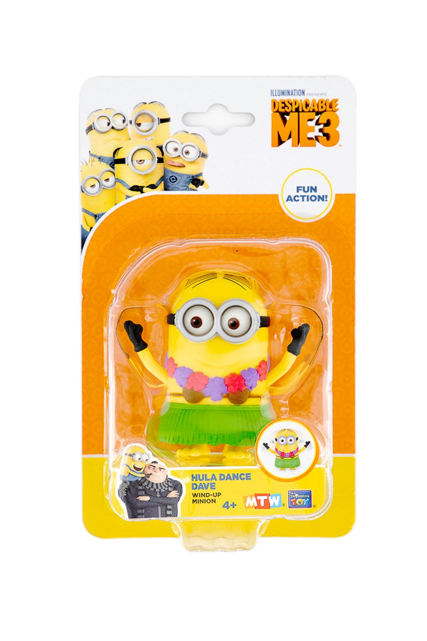Despicable 3 Minions Hula Dance Dave Action Toys, Yellow/Green