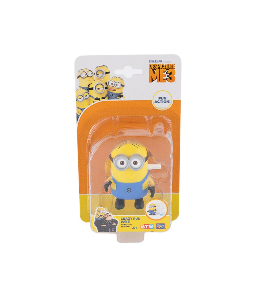 Despicable 3 Minions Crazy Run Dave, Yellow/Blue