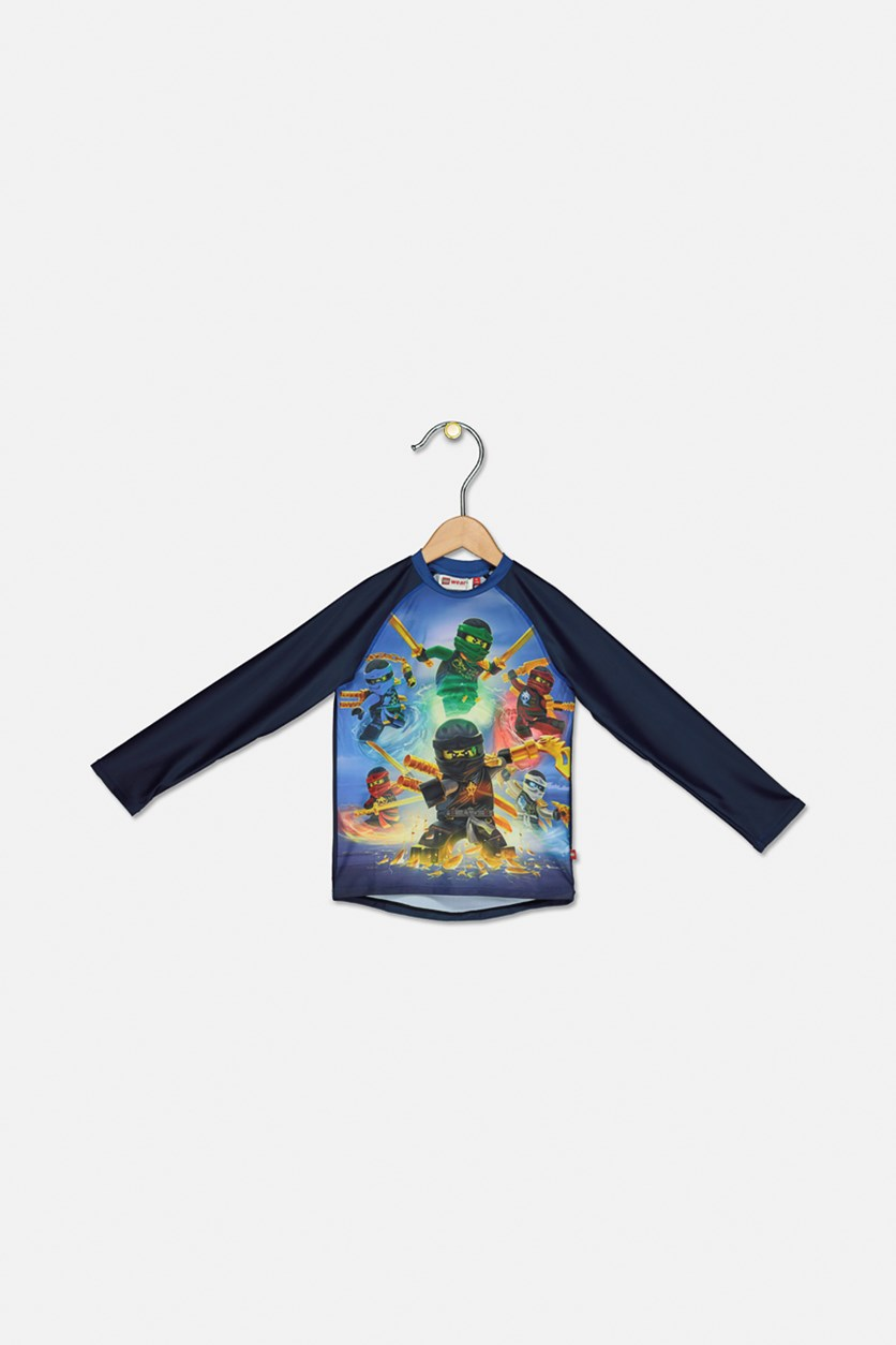 Kids Boys Thomas 421 Rash Guard, Navy Combo