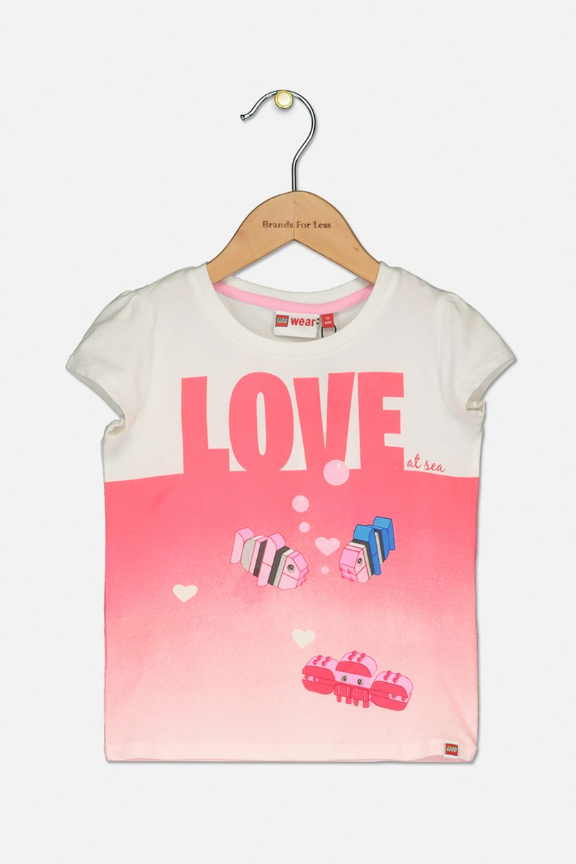 Toddlers Thea 303 T-shirt, Pink/White