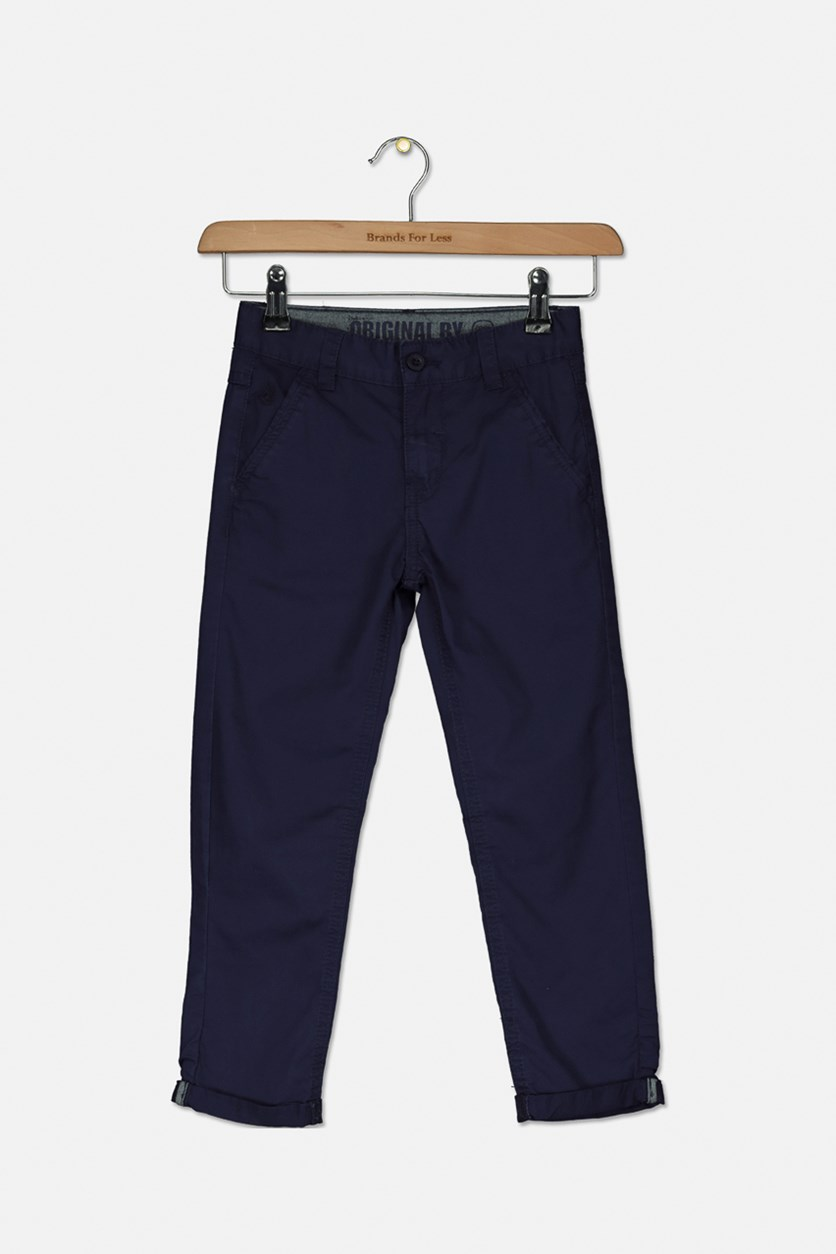 Boy's Four Pocket Pants, Navy Blue