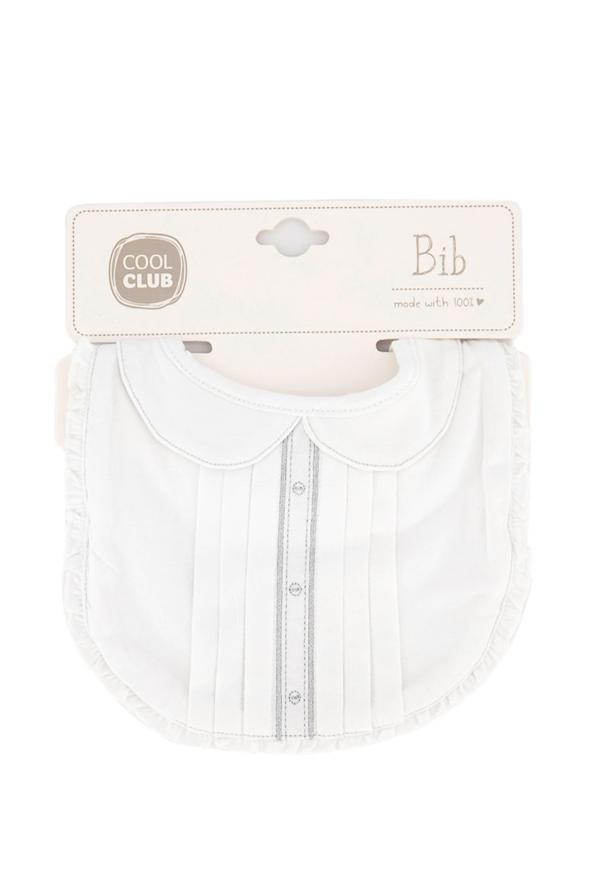 Toddler's Bib, White