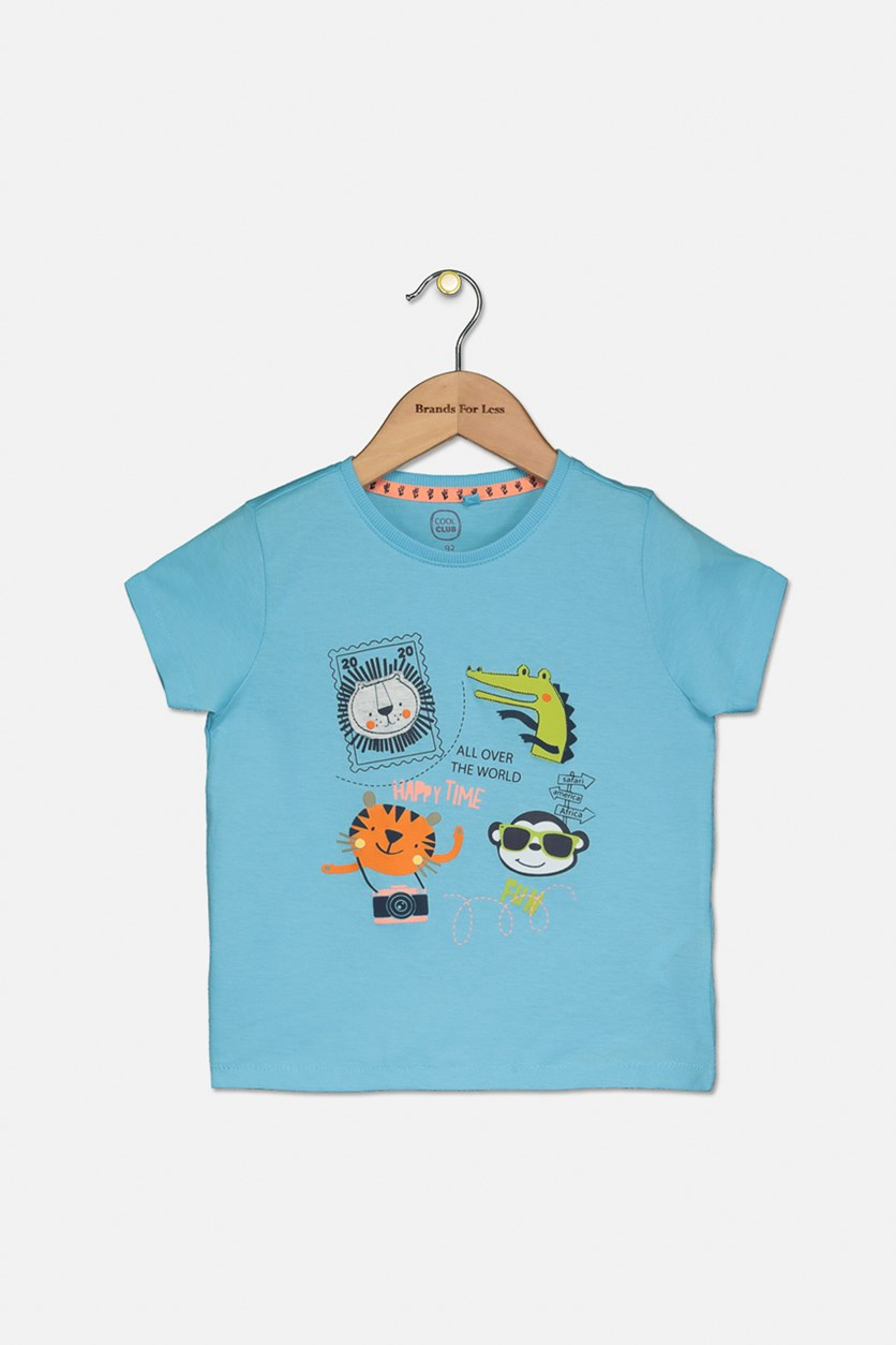 Little Boy's Graphic Printed Tee, Blue