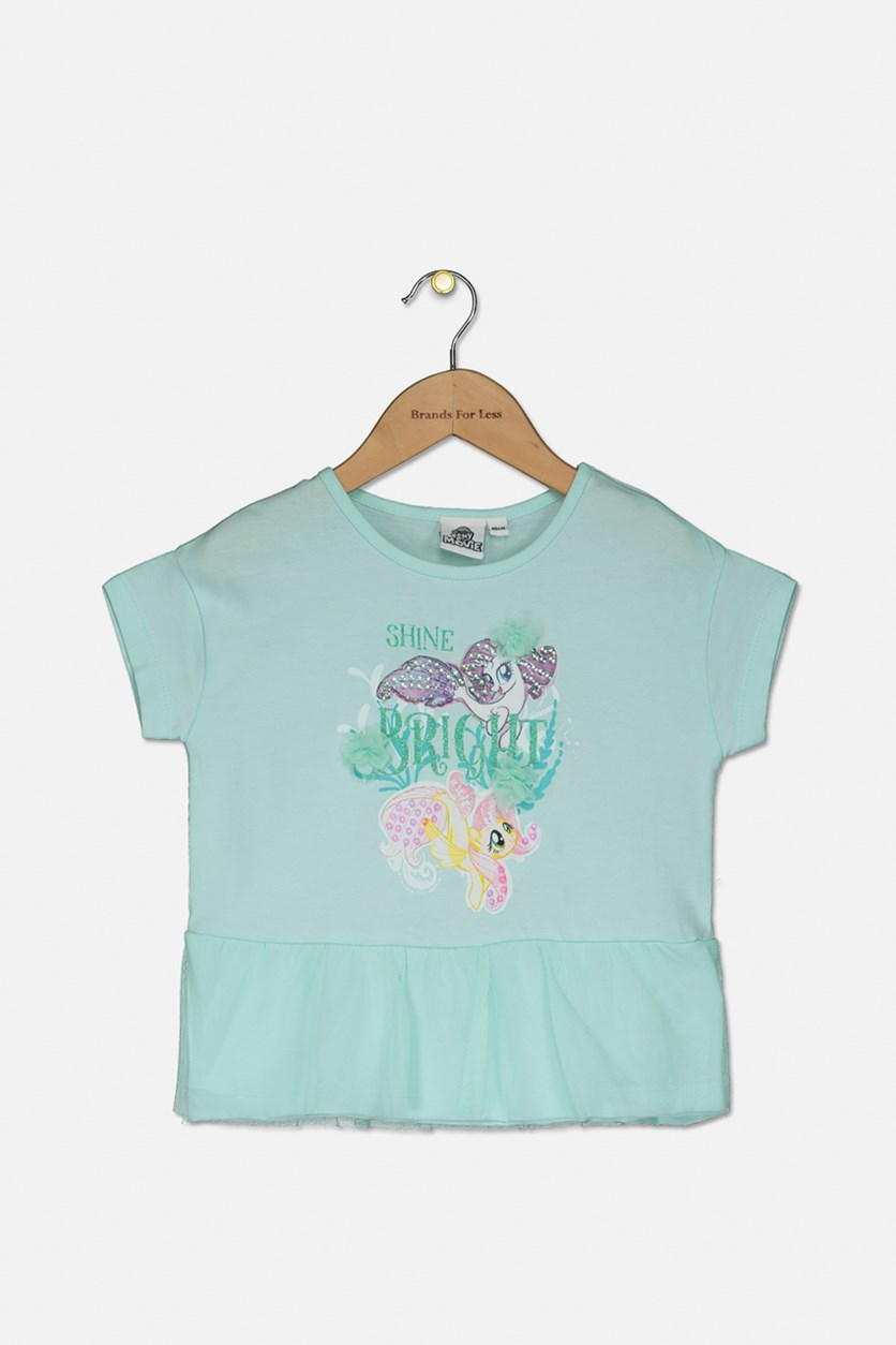 Toddler My Little Pony Top, Turquoise Combo