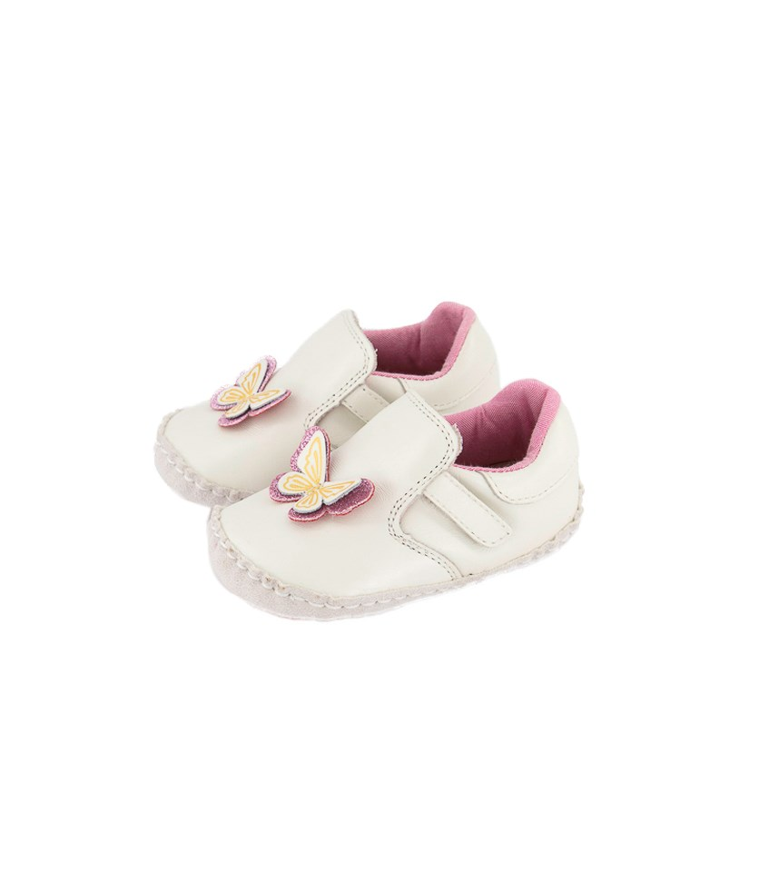 Little Girl's Pre-Walkers Shoes, Pearl White