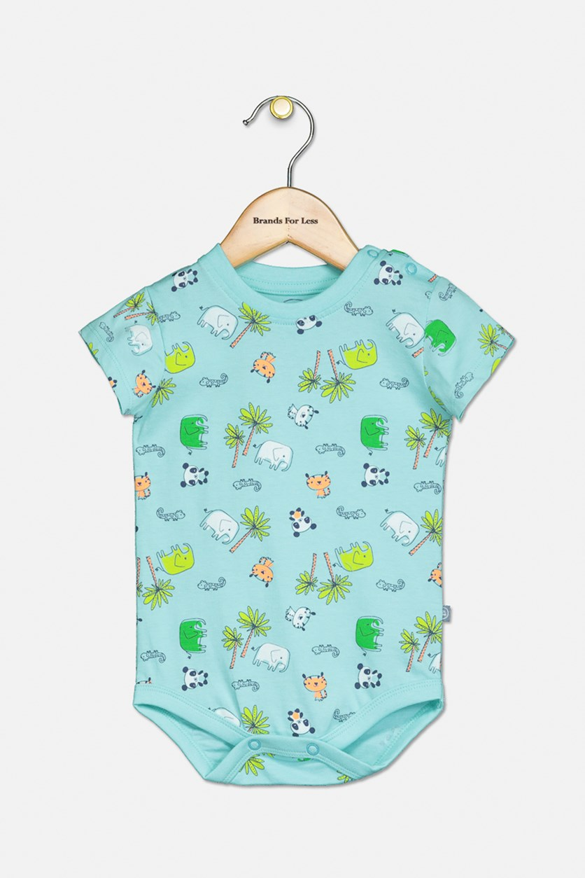 Baby Boy's Snap Button Bodysuit, Turquoise