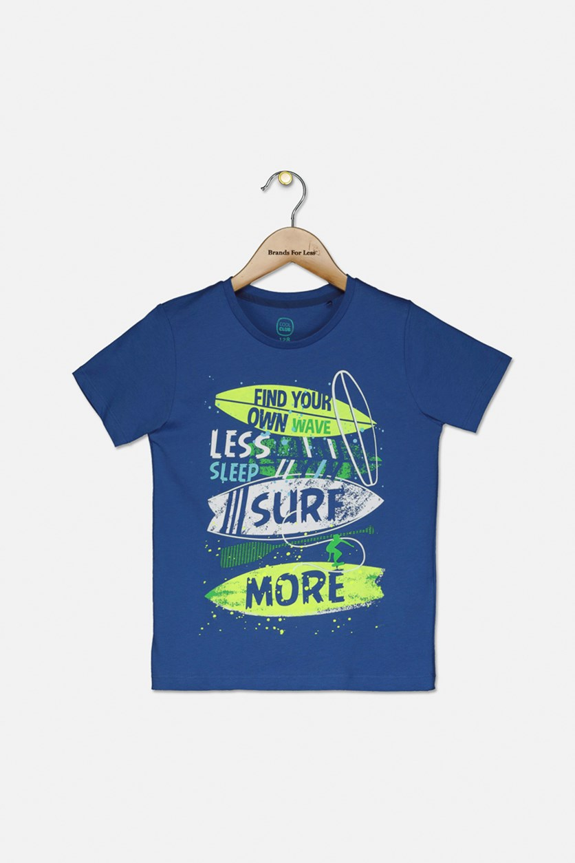 Boy's Find Your Own Wave Graphic T-shirt, Blue Combo