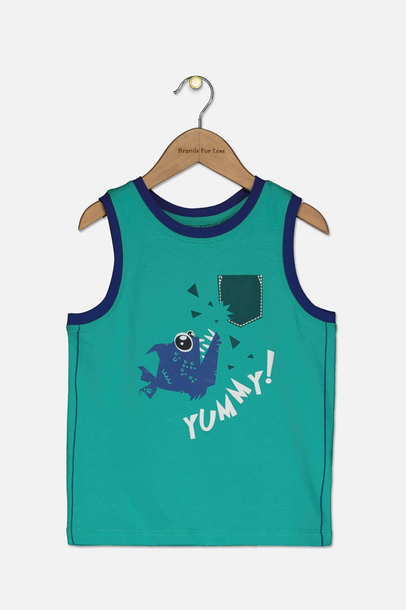 Baby Boy's Graphic Tank Top, Green/Blue