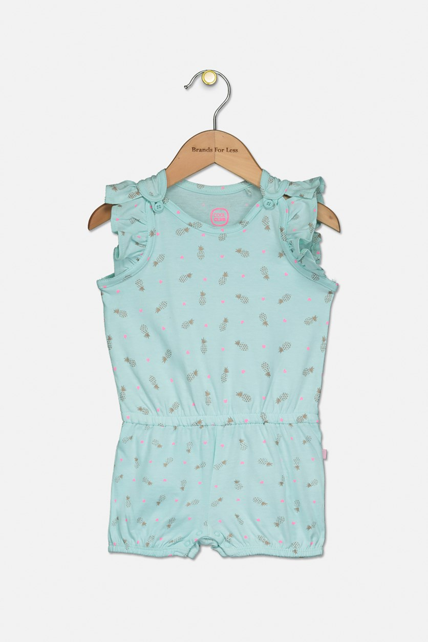 Toddlers Pineapple Printed Bodysuits, Mint Green