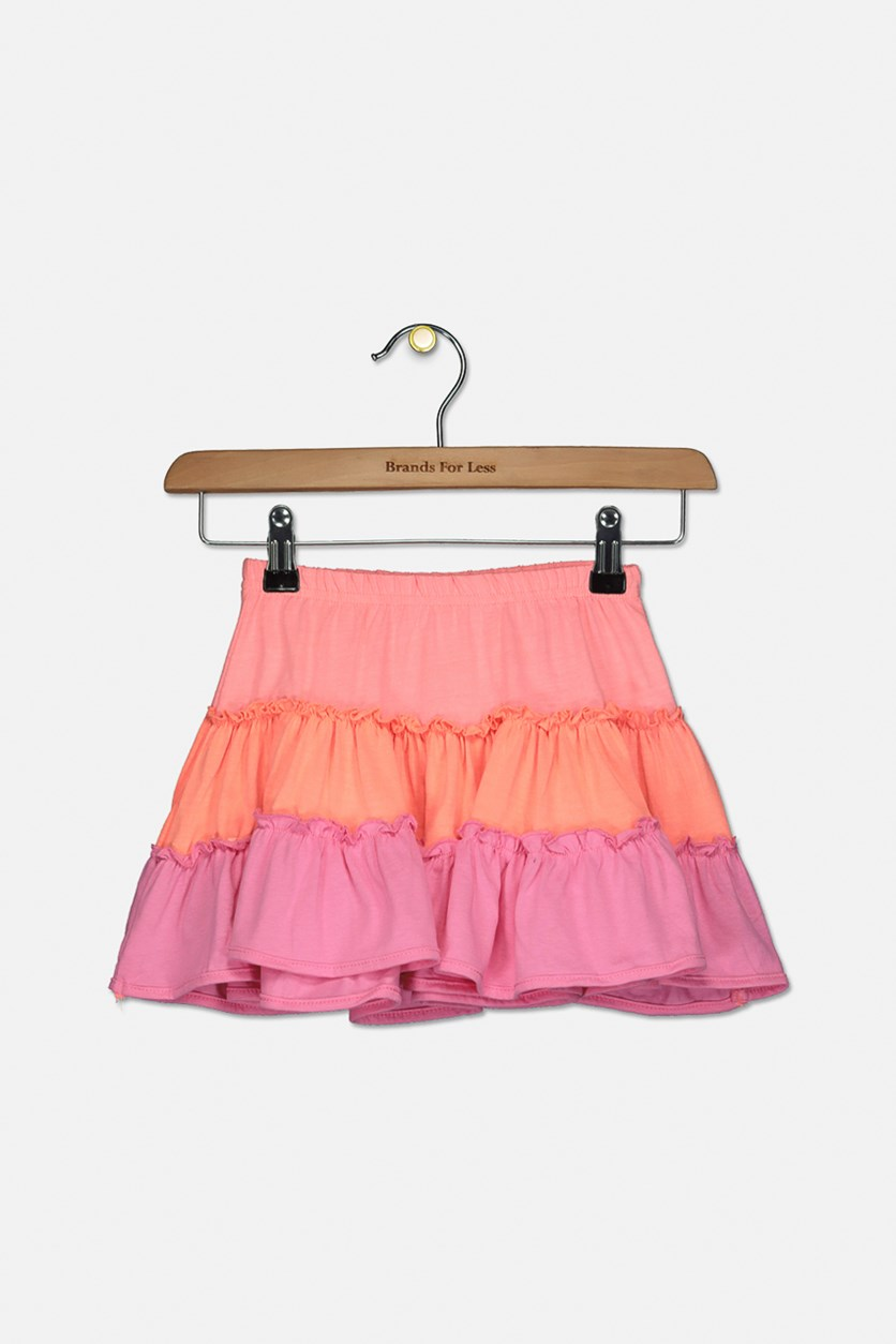 Kids Girl's  Pull-On Skirt, Orange/Coral/Pink