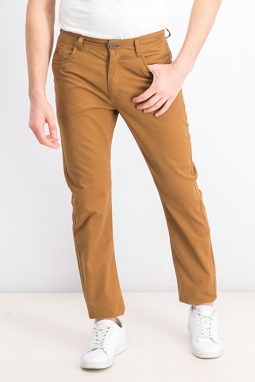Mens Plain Pants, Brown