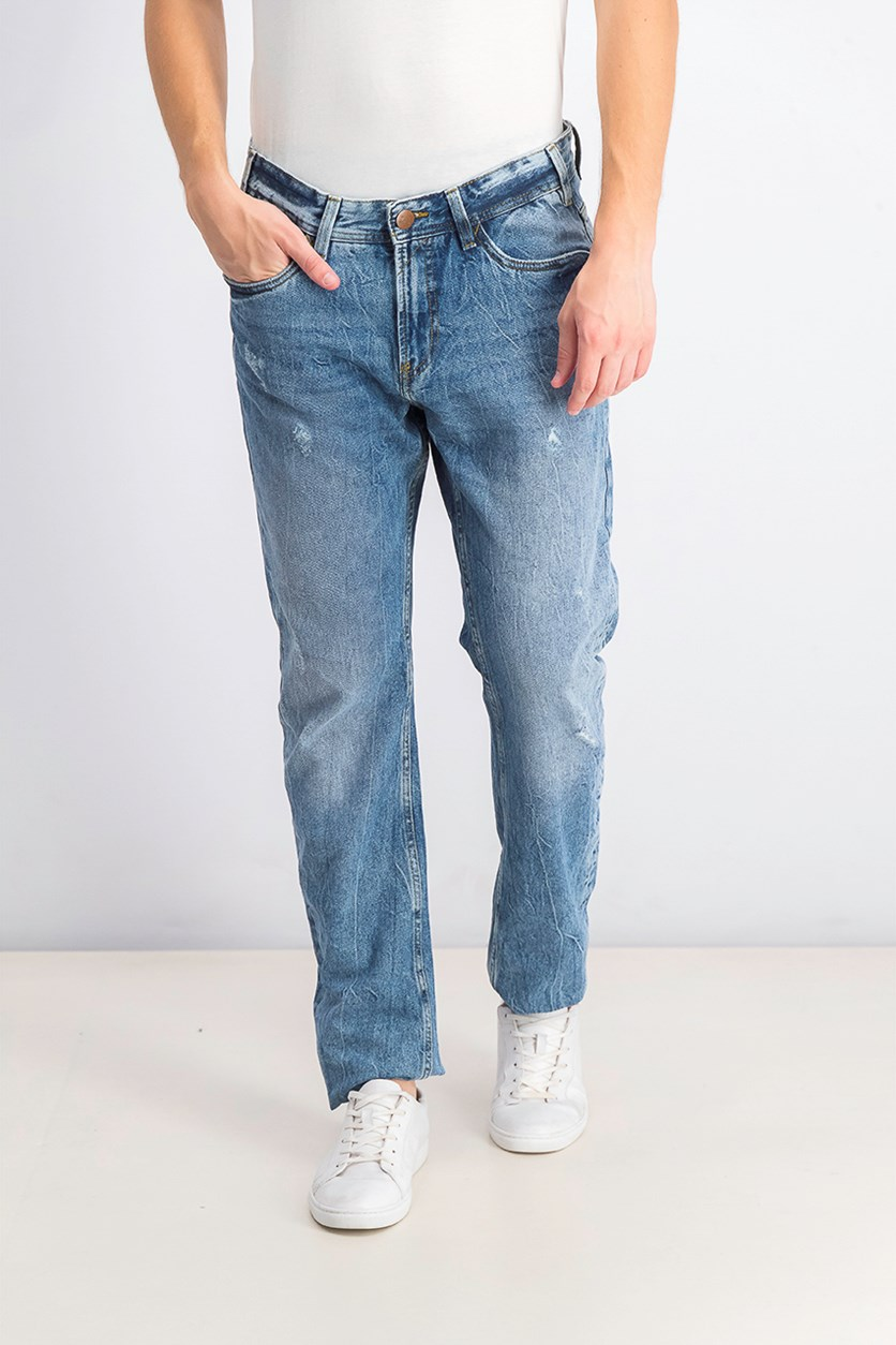 Mens Moriarty Comfort Jeans, Denim Wash