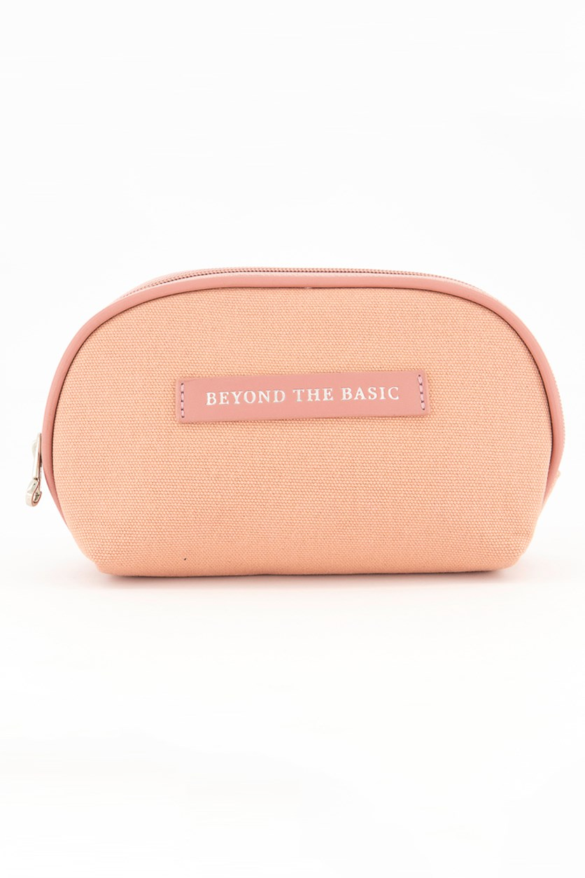 Canvas Cosmetic Bag, Pink