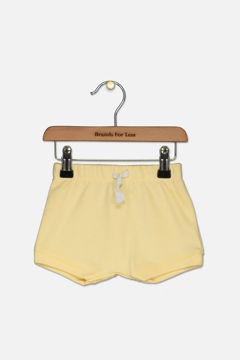 Baby Girls Bloomer Shorts, Lemon Zest