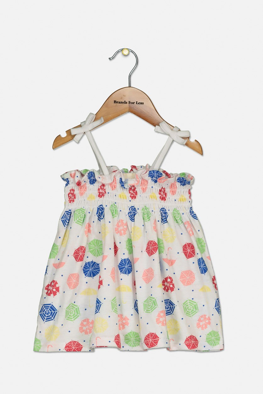 Baby-Girls Printed Sundress, Bright White