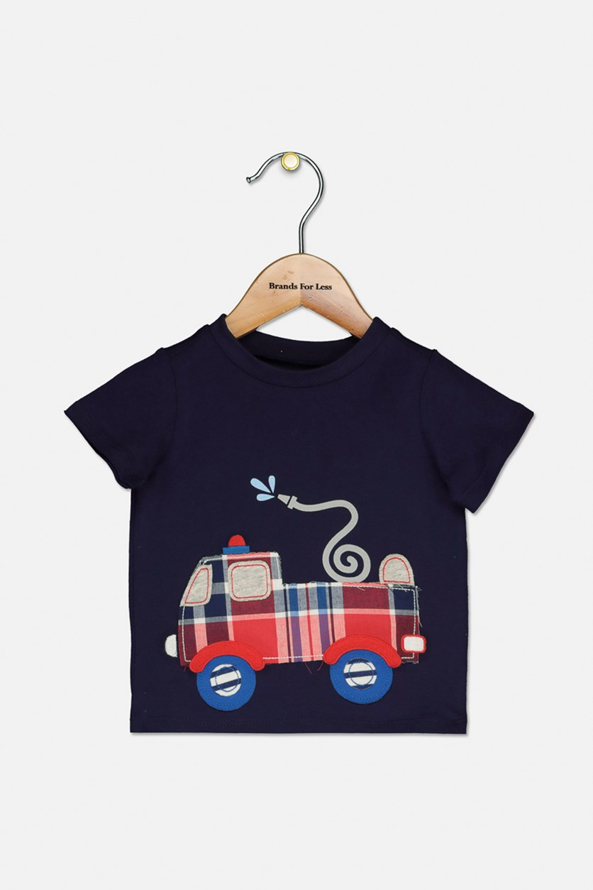Baby Boys Graphic T-Shirt, Navy Sea