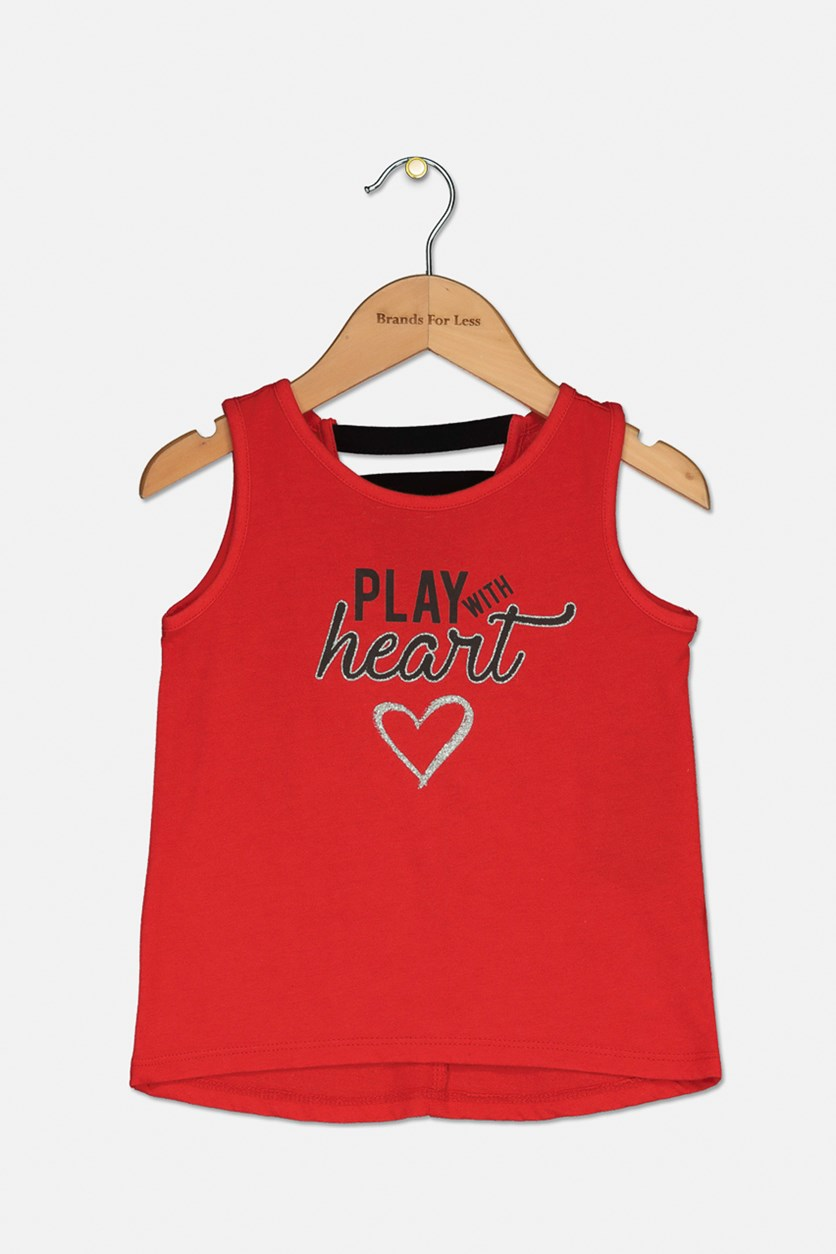 Toddler Strappy Back Graphic Tank Top, Red