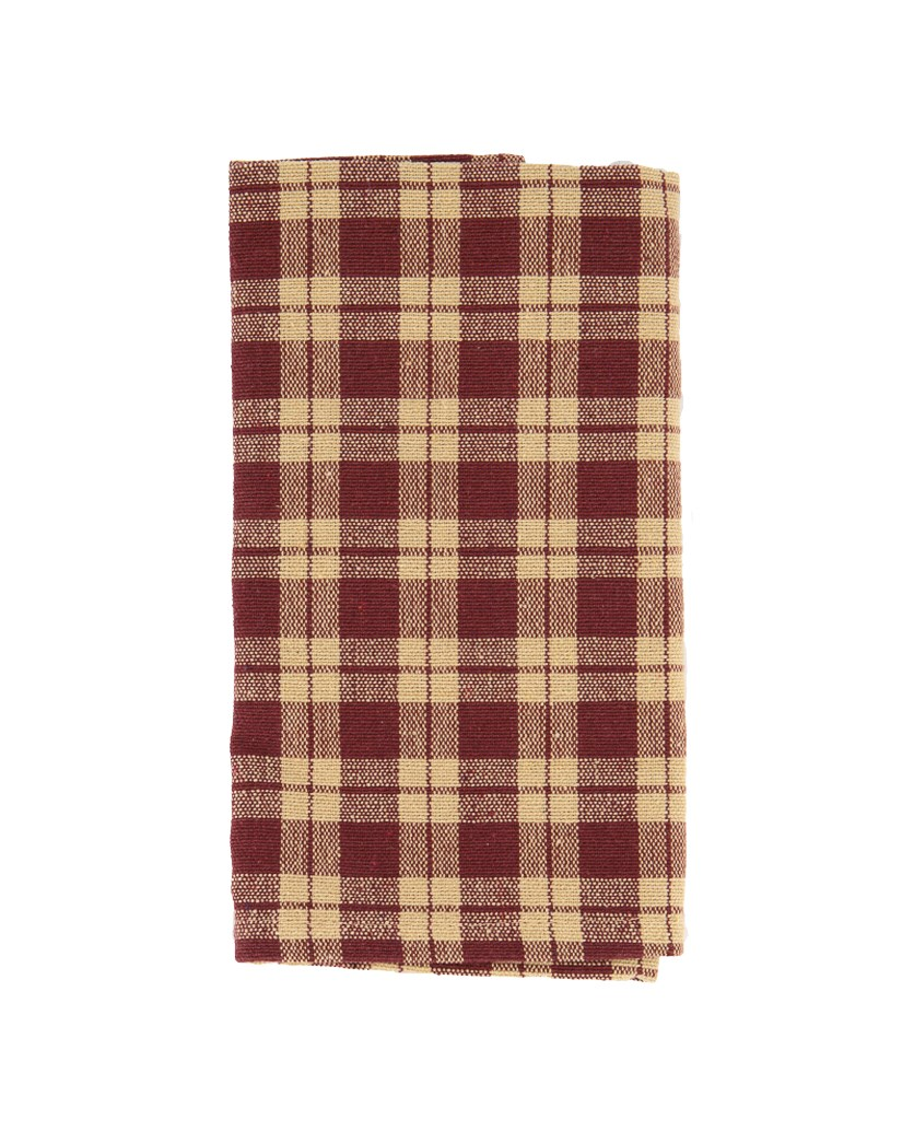 Gingham Check Placemat, Maroon