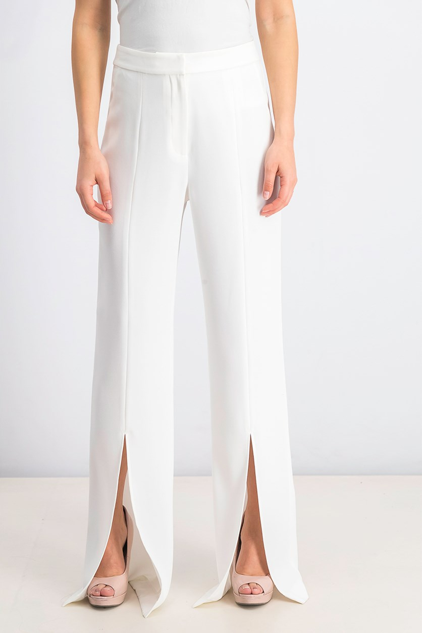 Women's Benoit High-Rise Slit Pant, Frosted White