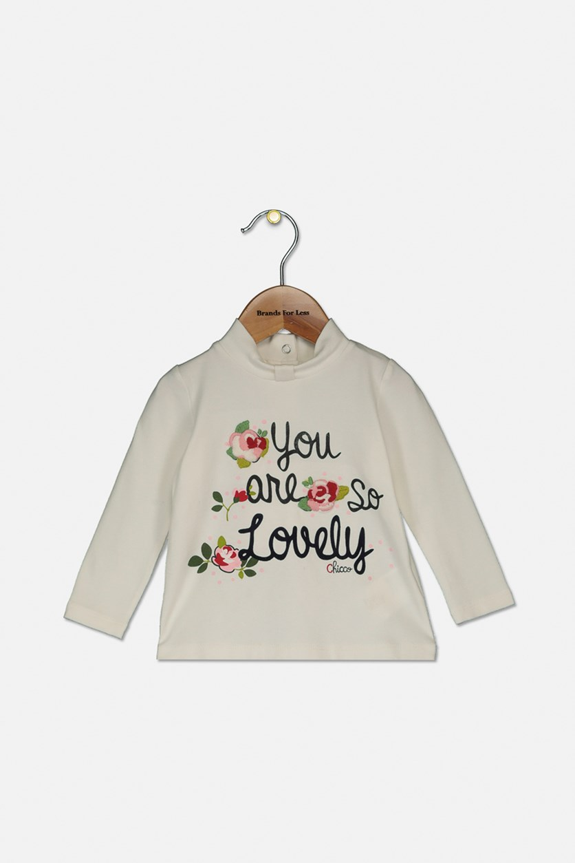 Toddlers Long Sleeve Tops, Ivory