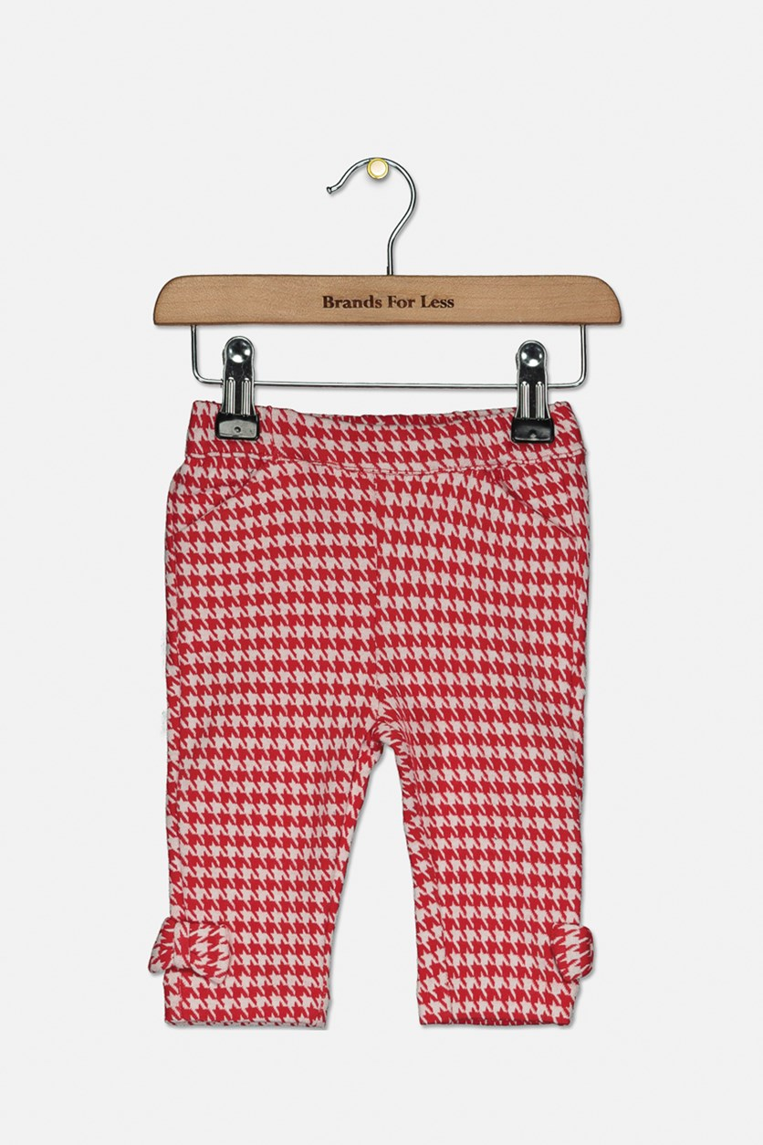 Toddlers Slant Pockets Pants, Red/White