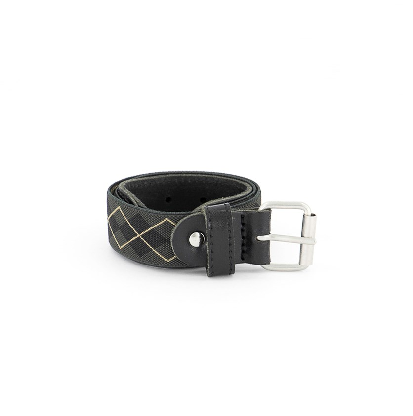 Girls Textured Future Belt, Black