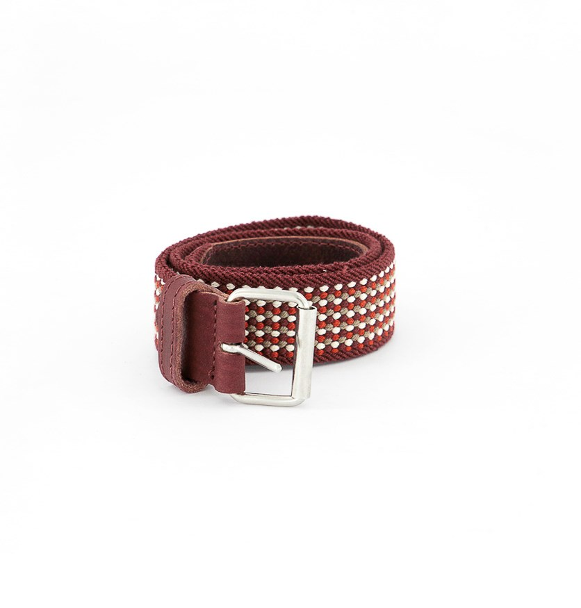 Girls Texture Belt, Maroon