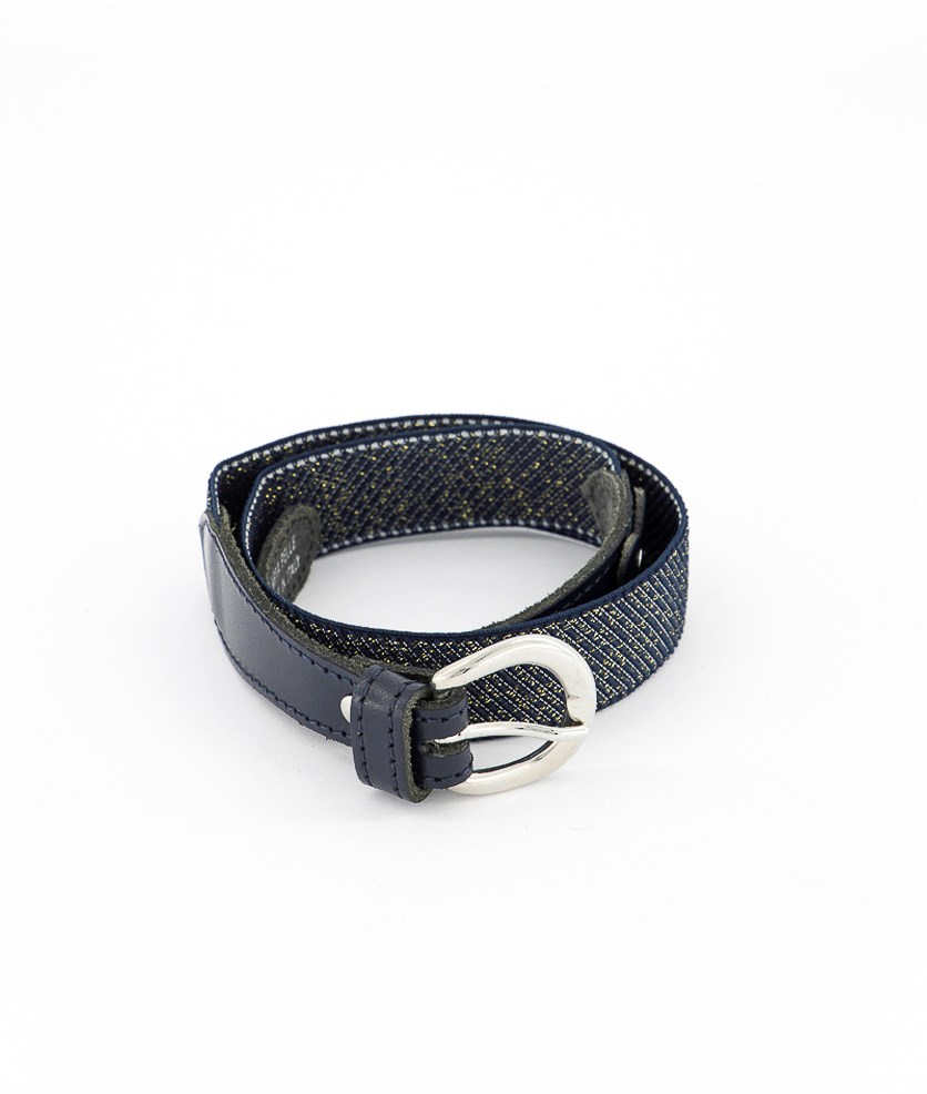 Girls Metallic Romantic Belt, Blue
