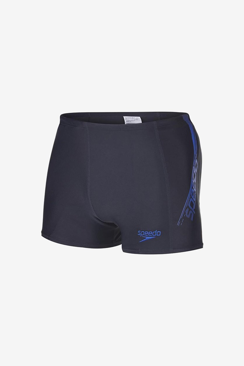 Men's Sports Logo Aqua Short, Navy/Blue
