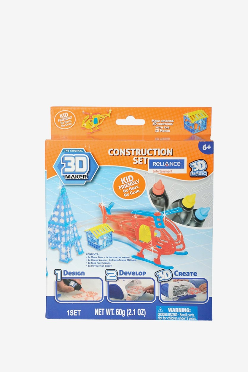 Construction And Vehicle Expansion Pack, Blue/Red/Yellow