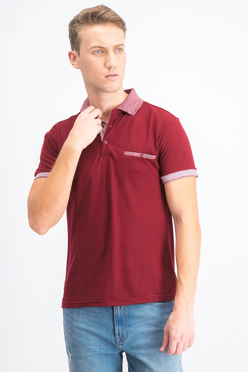 Men's Short Sleeve  Polo Shirt, Maroon