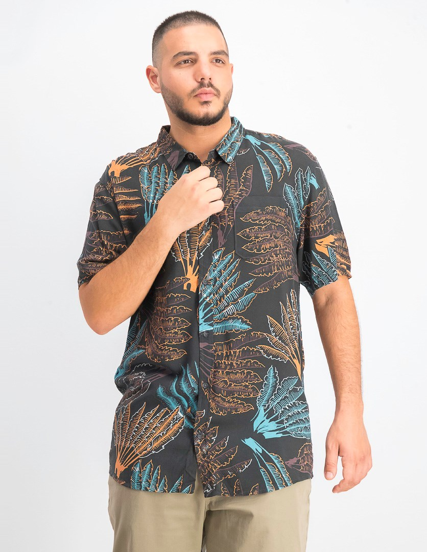 Men's Kaleyea Printed Shirt, Black Combo