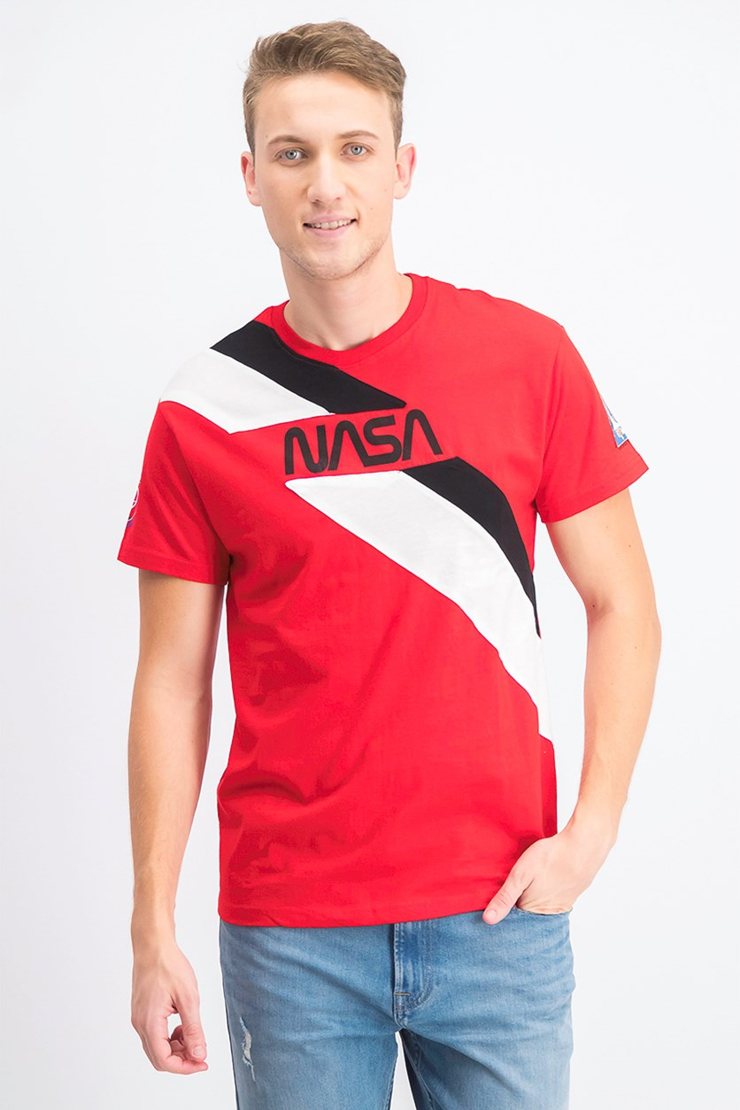 Men's Colorblock NASA Print T-Shirt, Red Combo