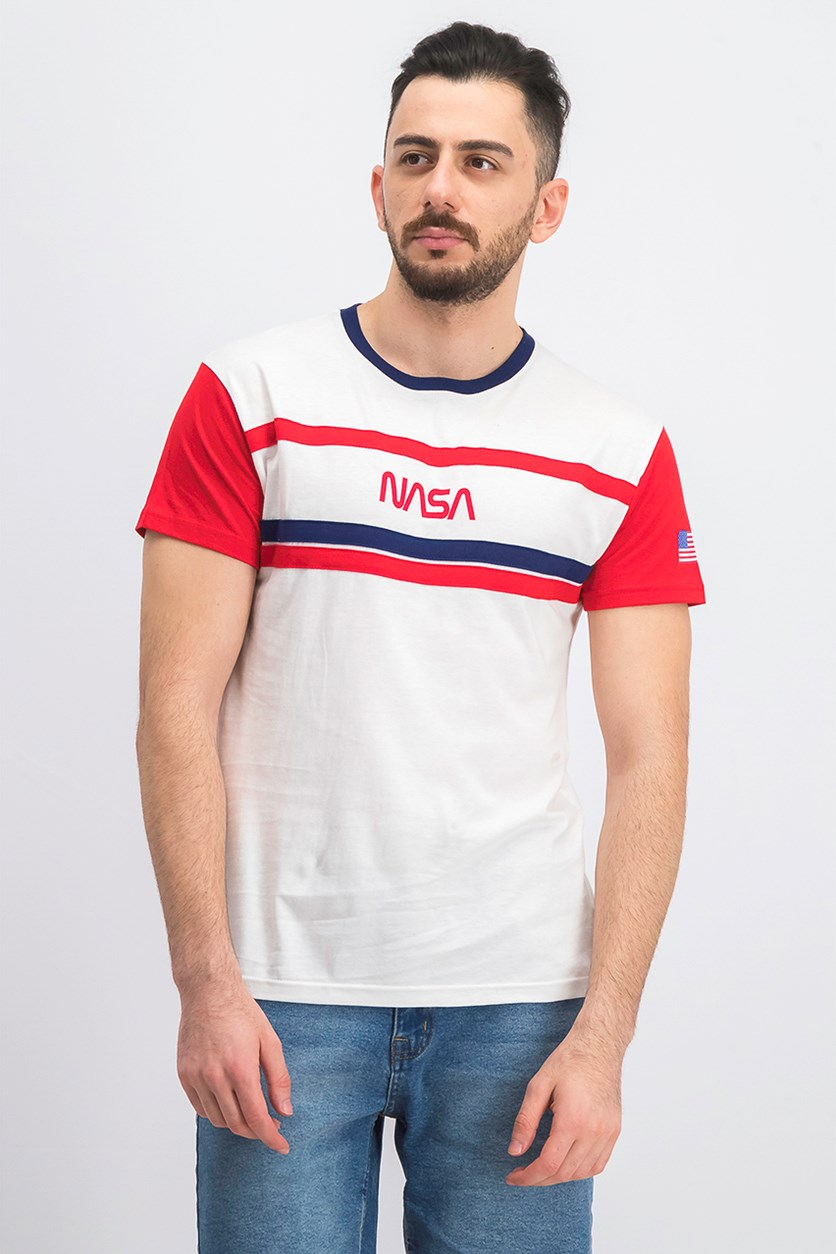 Men's Colorblock Stripe T-Shirt, White Combo