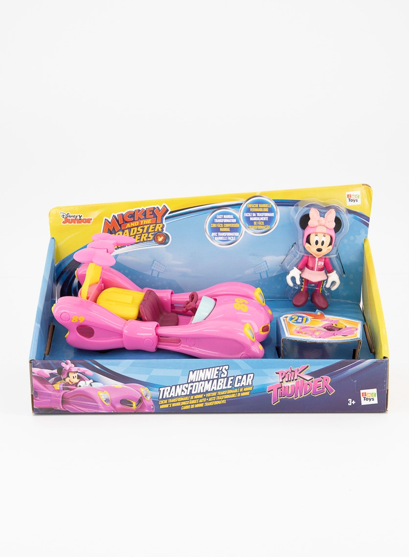 Transformable Minnie Toy Vehicle, Pink Combo