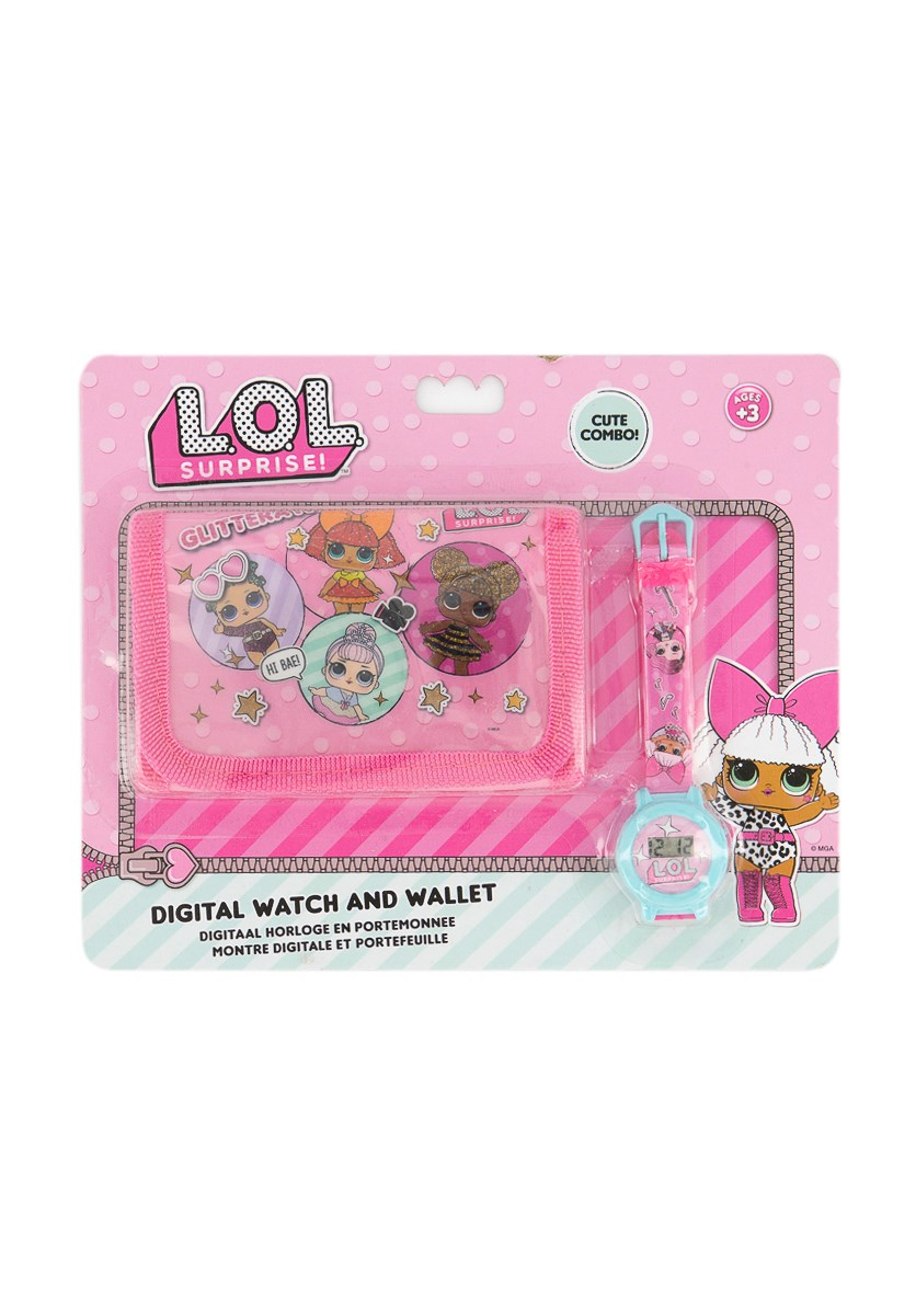 Kids Girls Digital Watch and Wallet, Pink