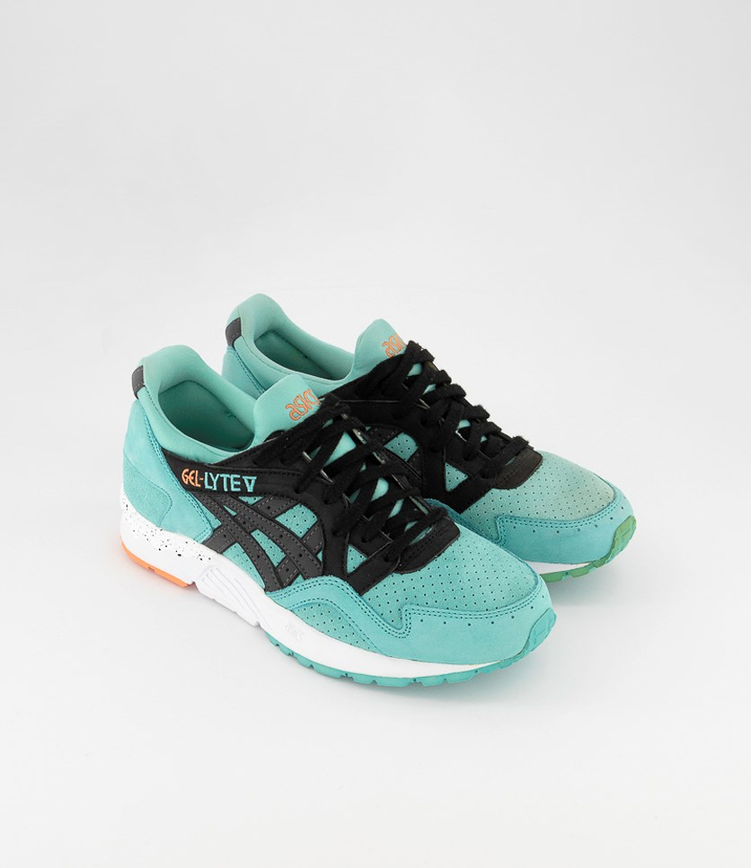 Men's Gel Lyte V Running Shoes, Black/Turquoise