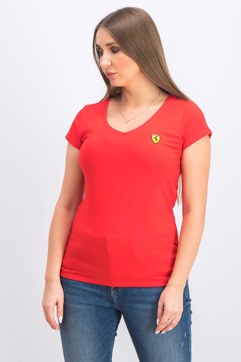 Women's Classic V-Neck Tee, Red