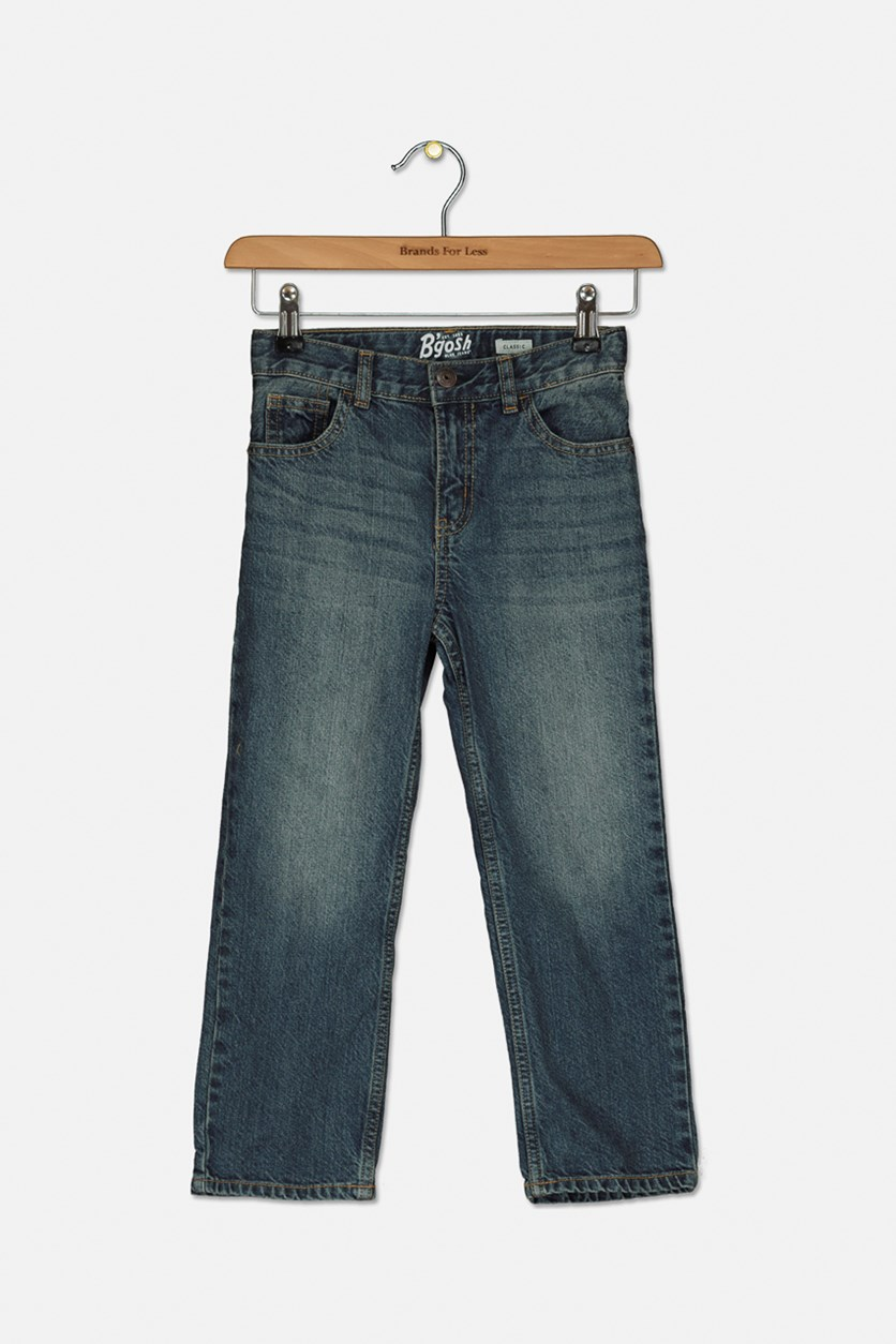 Kids Boy's Classic Jeans, Blue Wash