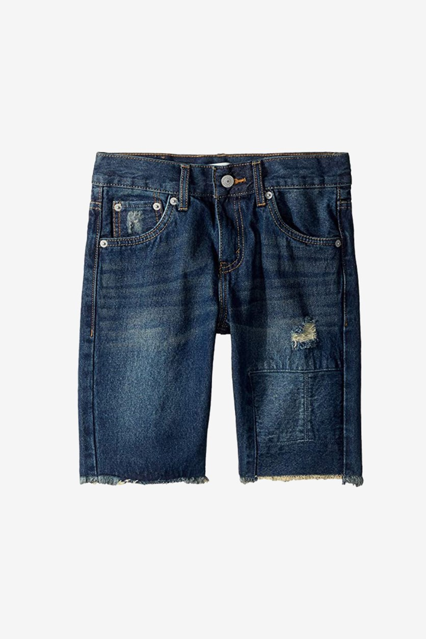 Big Boys 511 Distressed Slim Cotton Shorts, Denim Blue