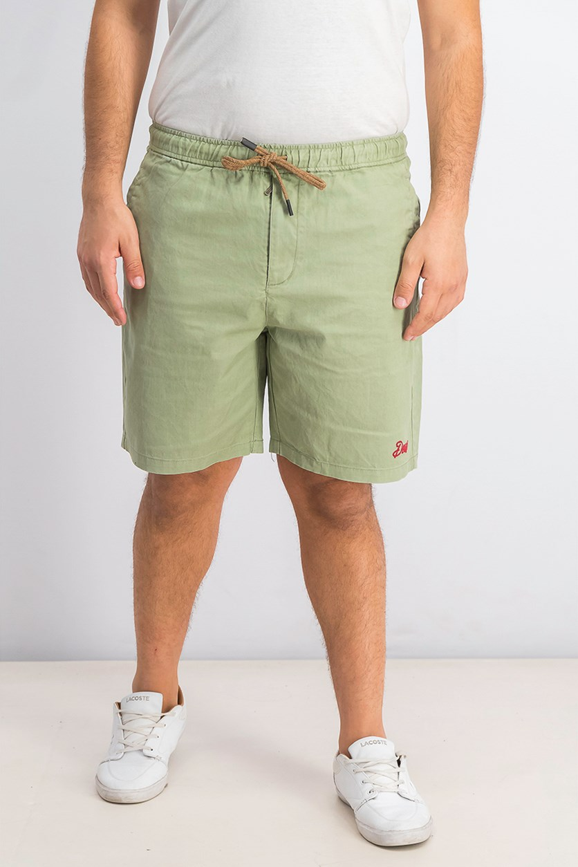 Men's Fiesta Linen Blend Regular Fit Shorts, Olive